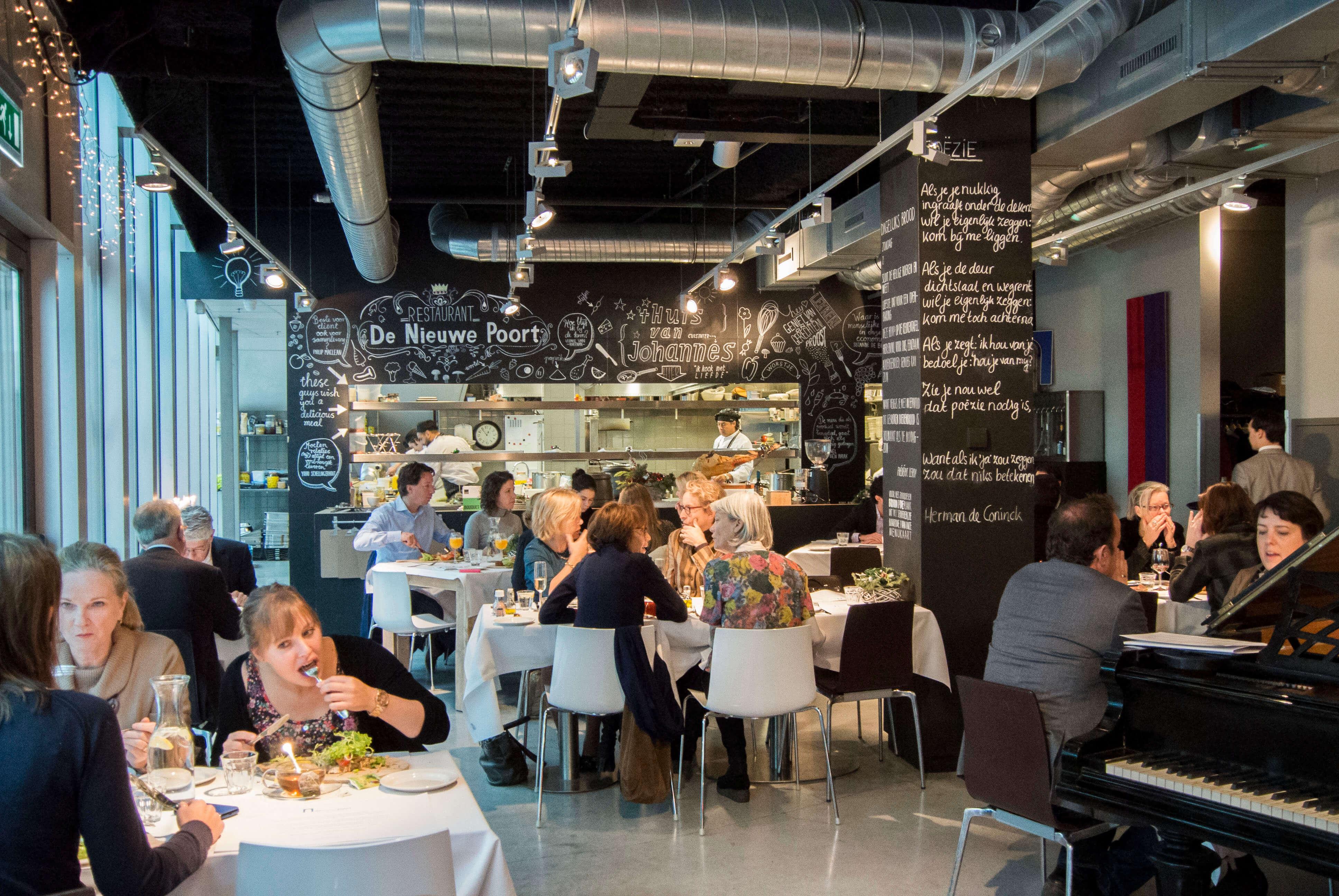 De Nieuwe Poort Amsterdam restaurant lunch vol